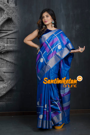 Hand Painted Tussar Silk SN20193408