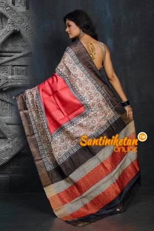 Hand Painted Tussar Silk SN20194299