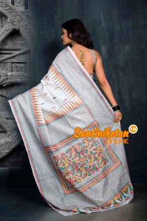 Kantha Stitch Saree SN20194329