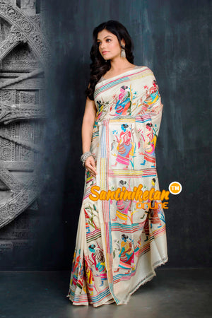 Kantha Stitch Saree SN20194335