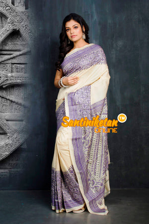 Kantha Stitch Saree SN20194338