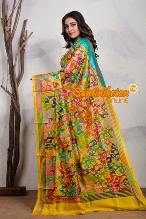 Kantha Stitch Saree On Pure Tussar SN20195227