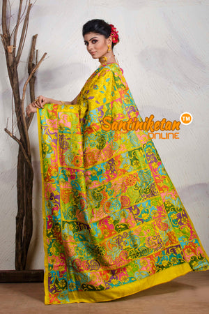 Kantha Stitch Saree On Pure Tussar SN20195434