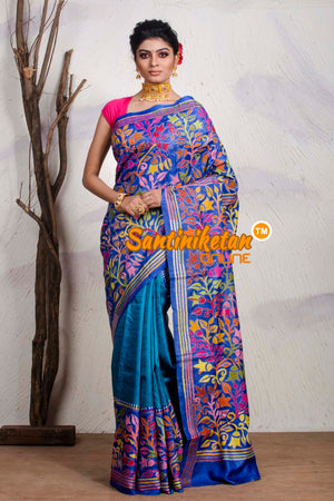 Kantha Stitch Saree On Pure Tussar SN20195470