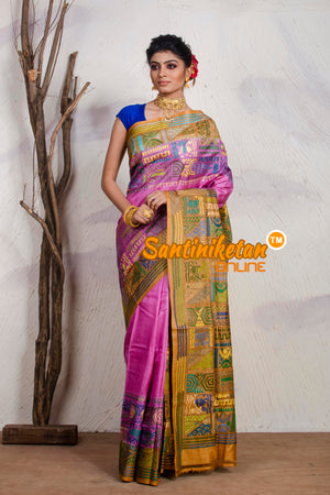 Kantha Stitch Saree On Pure Tussar SN20195531