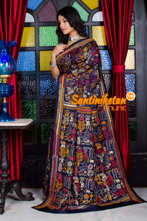 Kantha Stitch Saree SN20195666