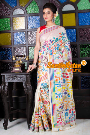 Kantha Stitch Saree SN20195720