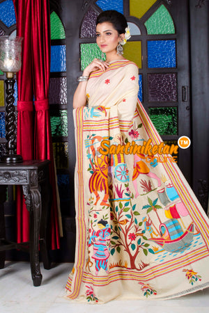 Kantha Stitch Saree SN20195757