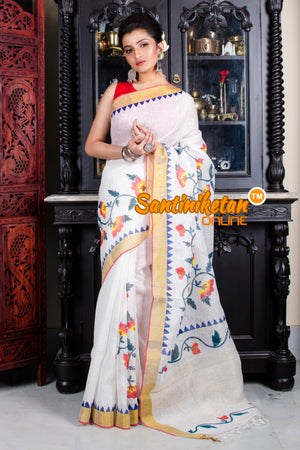 Hand Painted Linen Saree SN20195781