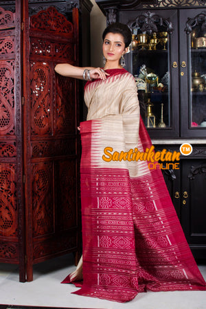Traditional Gopalpur Tussar Ghicha Silk Saree SN20195800