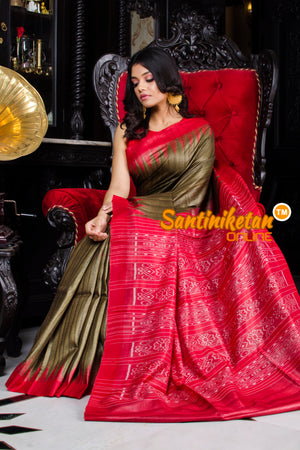 Traditional Gopalpur Tussar Ghicha Silk Saree SN20195938