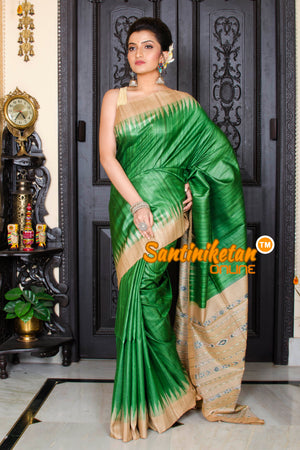 Traditional Gopalpur Tussar Ghicha Silk Saree SN20195948