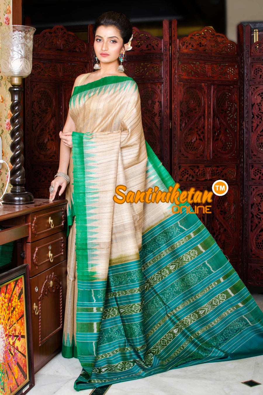 Traditional Gopalpur Tussar Ghicha Silk Saree SN20195955
