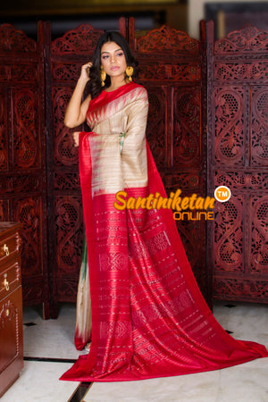 Traditional Gopalpur Tussar Ghicha Silk Saree SN20195970