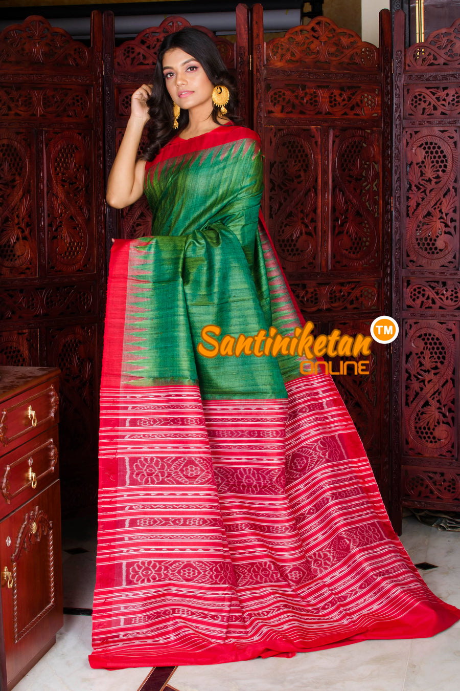 Traditional Gopalpur Tussar Ghicha Silk Saree SN20195978