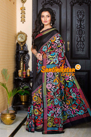 Kantha Stitch Saree SN20197318