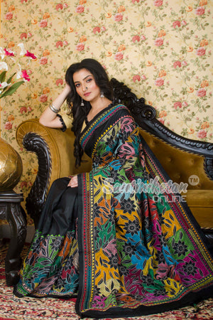 Kantha Stitch Saree SN20197344