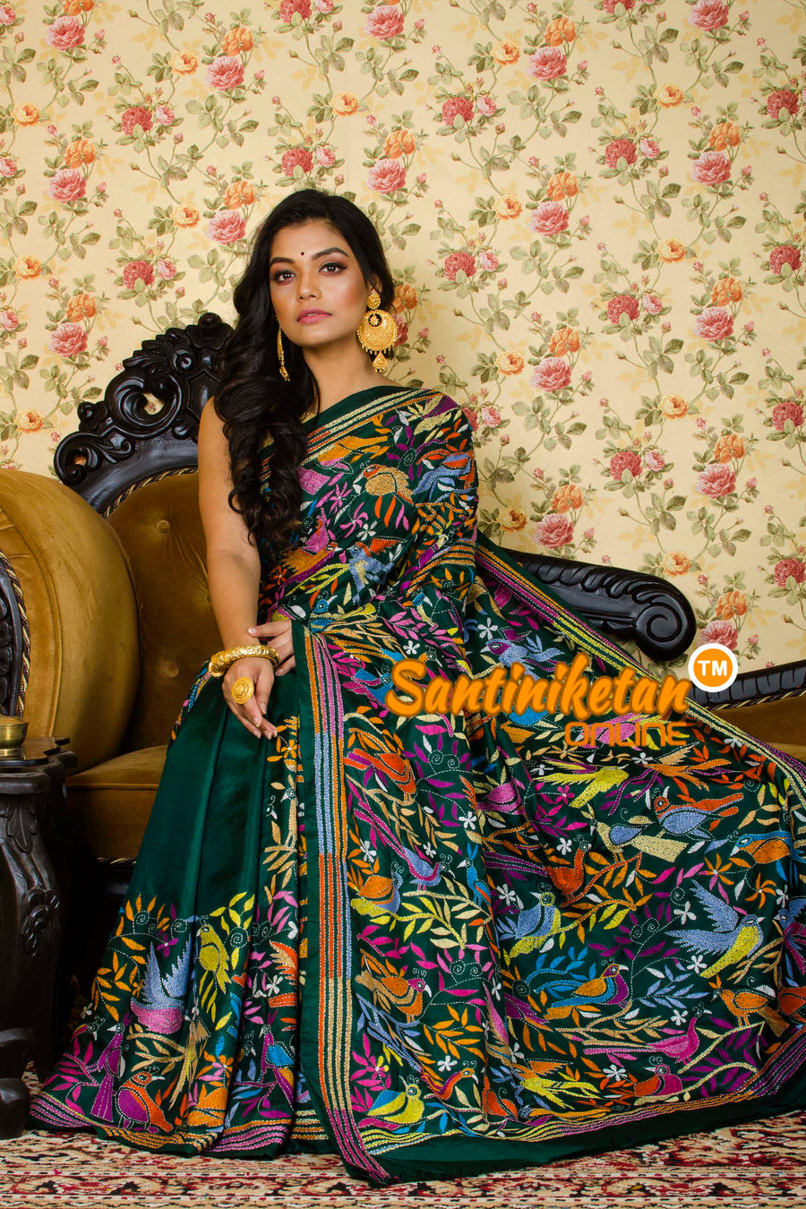 Kantha Stitch Saree SN20195905