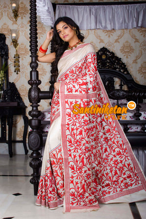 Kantha Stitch Saree SN20195714