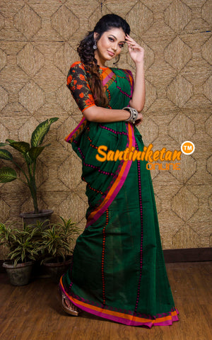 All Over In Pallu And Border Tribal Work Begampuri B04 (SN2017285)