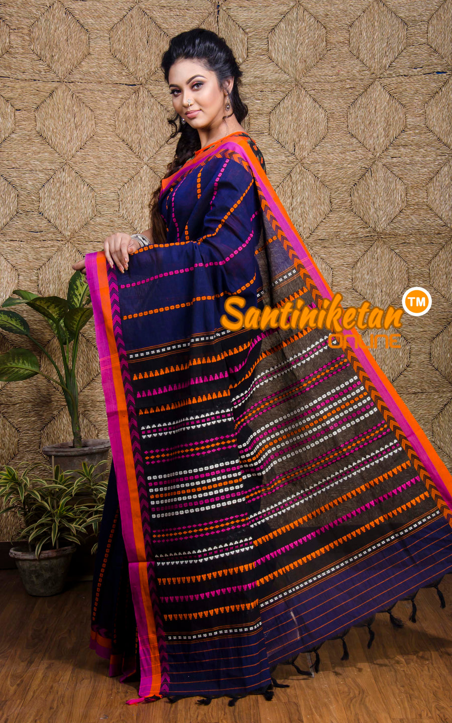 Hand Woven Begampuri Cotton Saree SN20197561