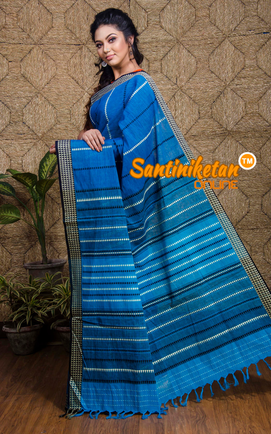 Hand Woven Begampuri Cotton Saree SN20197564