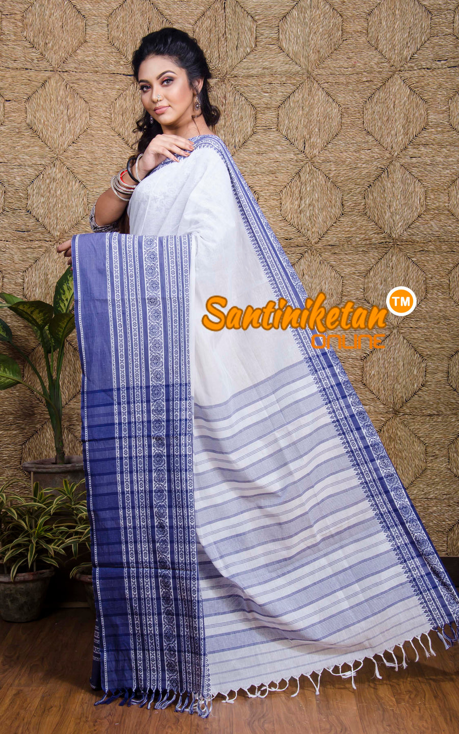 Hand Woven Begampuri Cotton Saree SN20197583