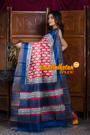 Hand Painted Tussar Silk SN20198351