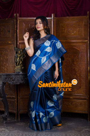 Hand Painted Tussar Silk SN20198356