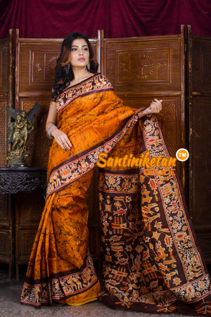 Hand Batik On Murshidabad Silk SN20198406
