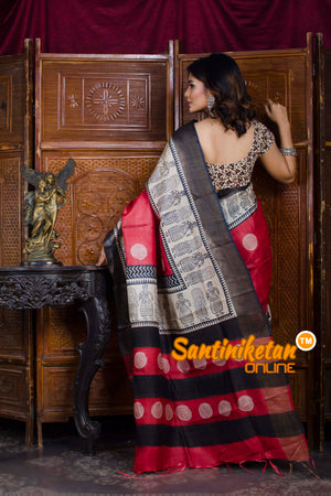Hand Painted Tussar Silk SN20198450