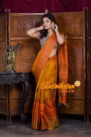 Hand Painted Tussar Silk SN20198457