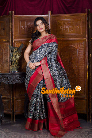 Hand Painted Tussar Silk SN20198460