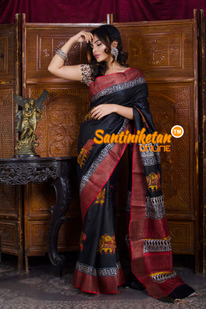 Hand Painted Tussar Silk SN20198463