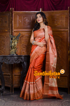 Hand Painted Tussar Silk SN20198467