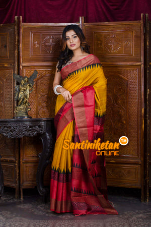 Hand Painted Tussar Silk SN20198470