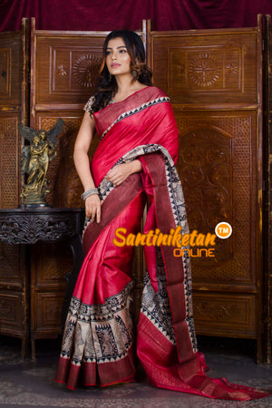 Hand Painted Tussar Silk SN20198473