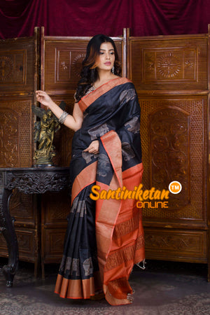 Hand Painted Tussar Silk SN20198476