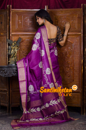 Hand Painted Tussar Silk SN20198571