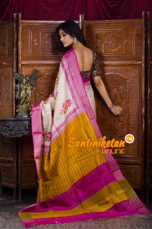 Hand Painted Tussar Silk SN20198574