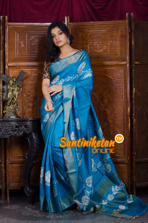 Hand Painted Tussar Silk SN20198577