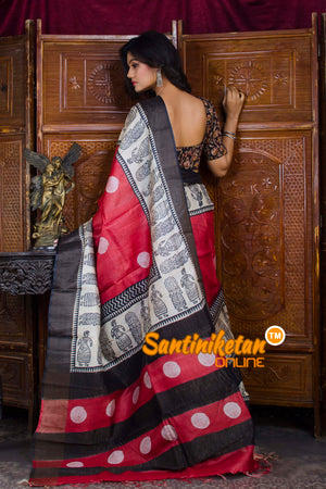 Hand Painted Tussar Silk SN20198586
