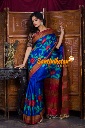 Hand Painted Tussar Silk SN20198589