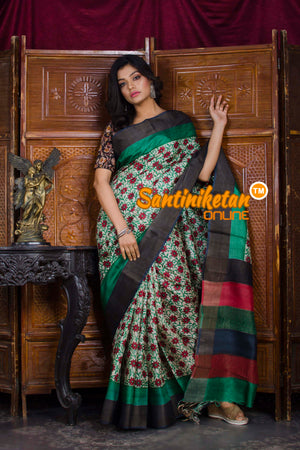 Hand Painted Tussar Silk SN20198592