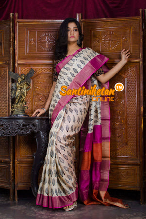Hand Painted Tussar Silk SN20198595