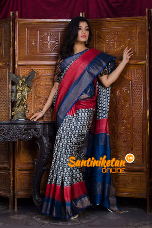 Hand Painted Tussar Silk SN20198598