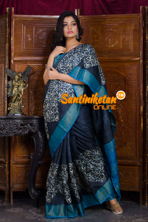 Hand Painted Tussar Silk SN20198601