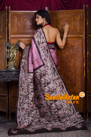 Hand Batik On Murshidabad Silk SN20198625