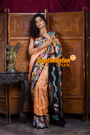 Hand Batik On Murshidabad Silk SN20198649
