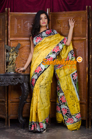 Hand Batik On Murshidabad Silk SN20198652